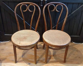 Set of 2 Bentwood Cane Thonet Café Chairs Made in Romania LOCAL Pickup  ONLY