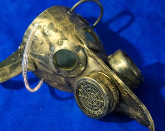 Leather Plague Doctor regular size Steampunk Burning Man Mask with goggles