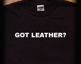 Got  leather t shirt