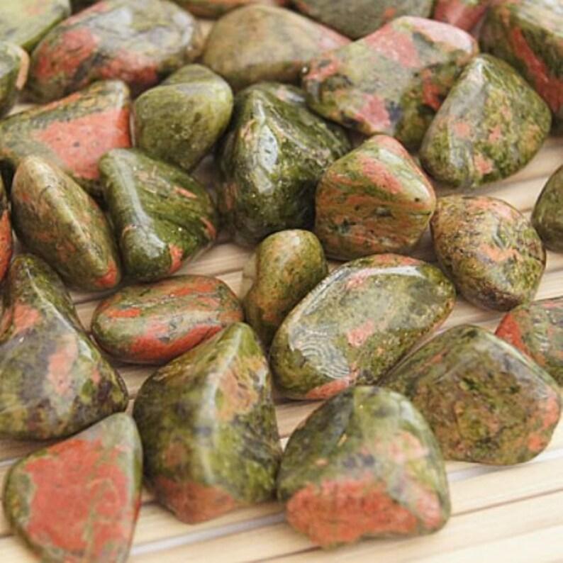 Unakite Tumbled Gemstone Crystal image 0