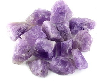 Rough Crystals - Amethyst, Rose Quartz, Hematite, Blue Calcite - Natural - Reiki
