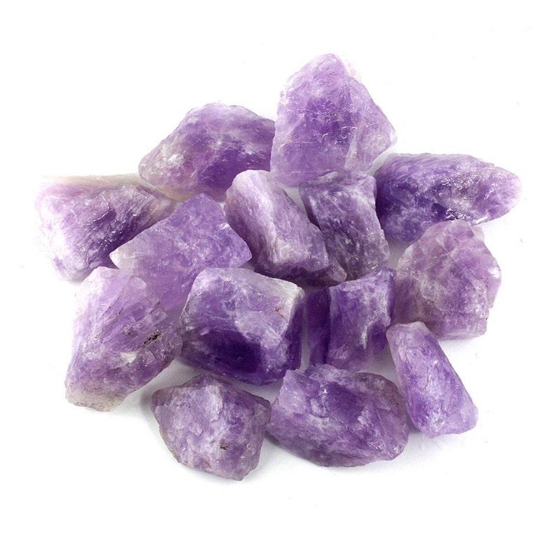 Rough Crystals  Amethyst Rose Quartz Hematite Blue Calcite image 0