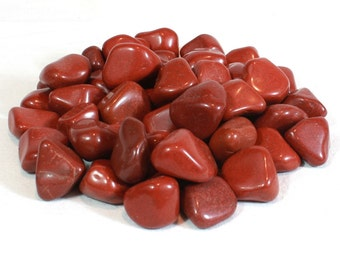 Red Jasper - Tumbled & Rough Gemstone Crystal - Grounding, Protection, Reiki