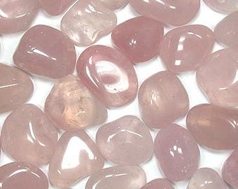Rose Quartz Tumbled Gemstone Crystal - Rough Stone - Reiki