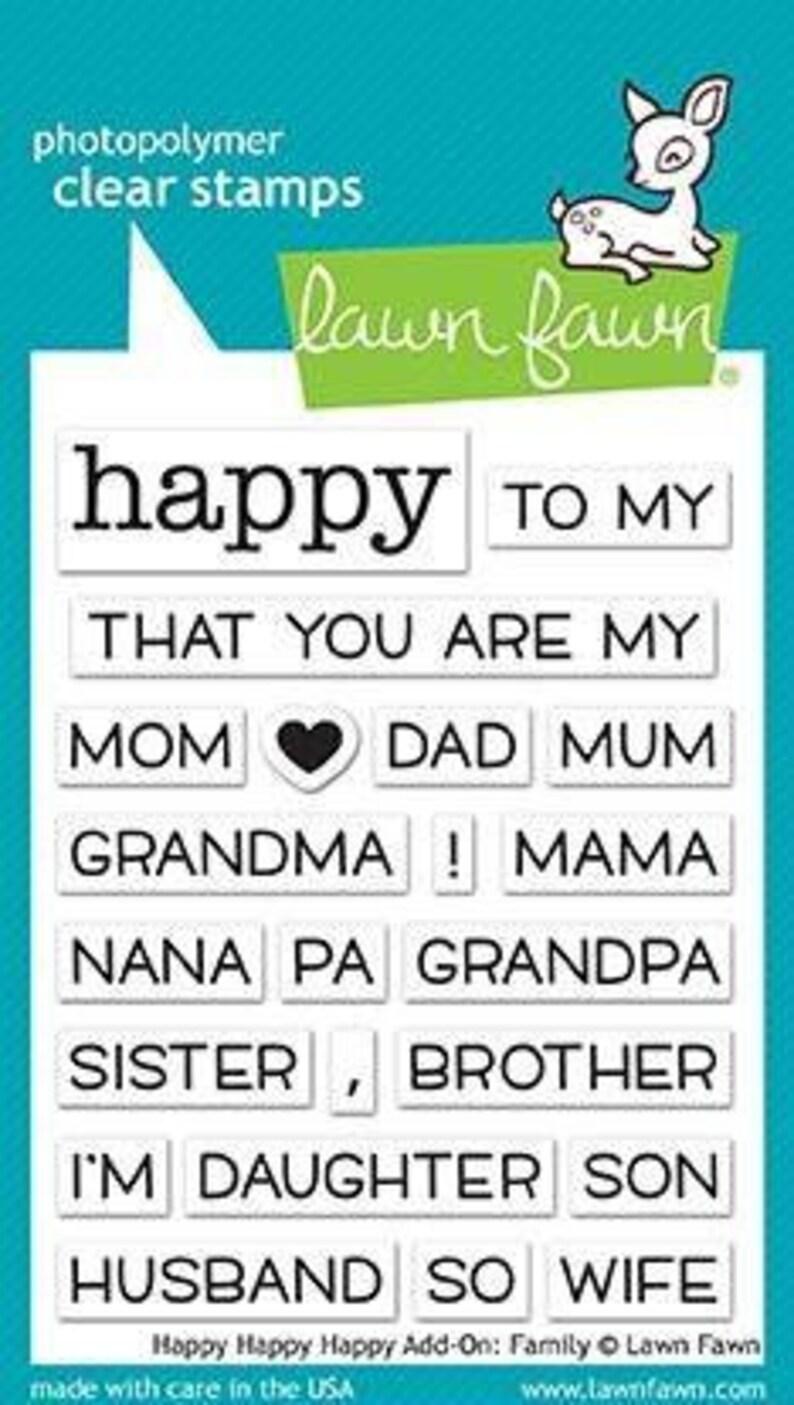 Lawn Fawn Happy Happy Happy Add-On Family