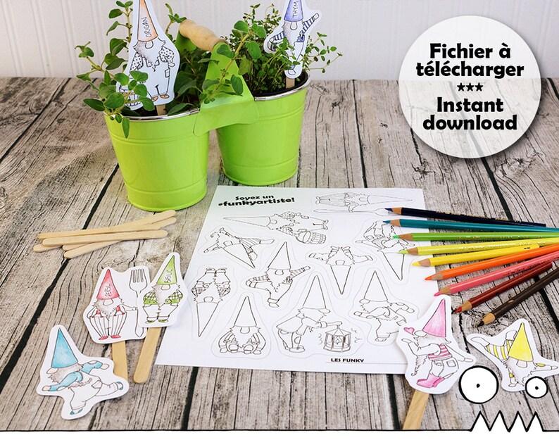 DIY marque-plante nain de jardin nain lutin bricolage | Etsy