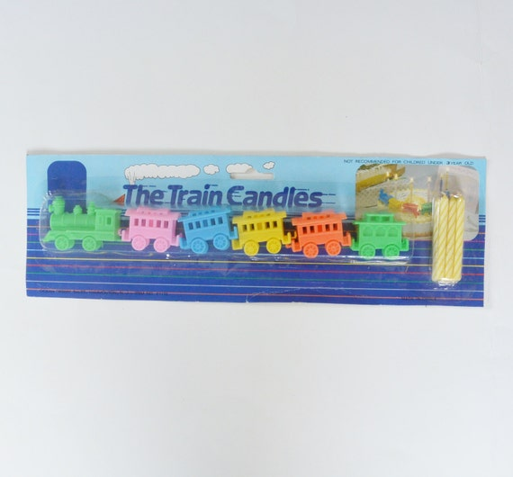 Vintage Train Decoration Candles Holders For Birthday Cake