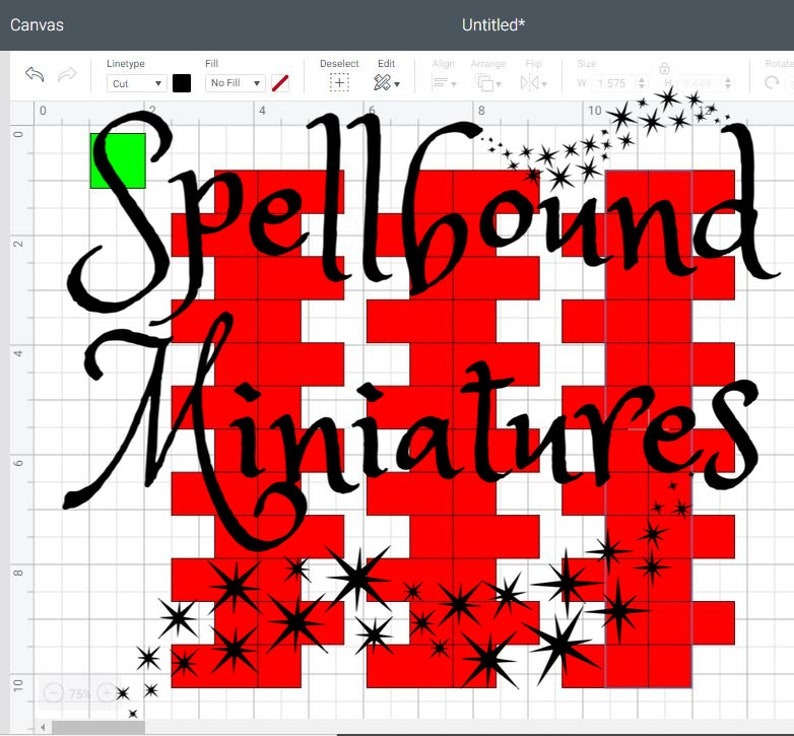 SVG File to make Miniature Dollhouse Quoins on a Cricut or image 0