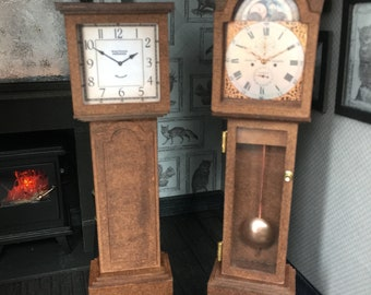SVG File Dollhouse Miniature Grandfather Clock for Cricut Maker machines
