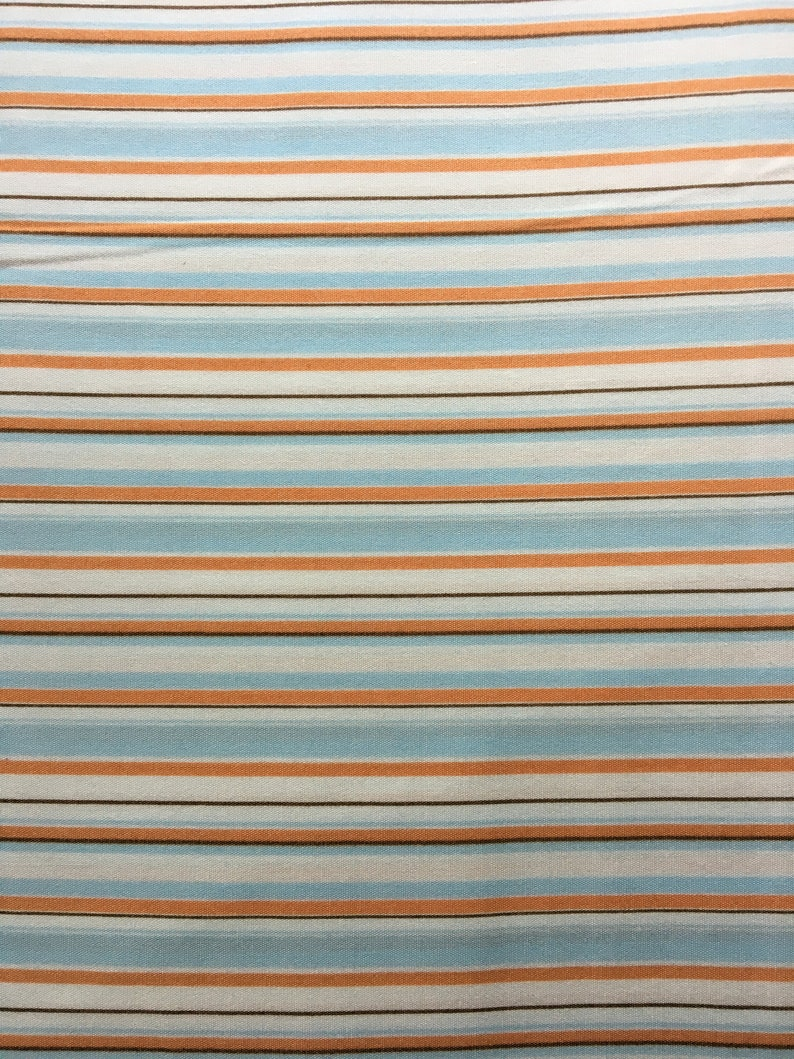 Lightning Bugs and Other Mysteries Light Blue Stripe by Heather Ross for Free Spirit RARE