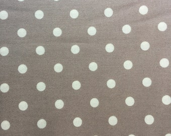 Gray with White Dots: Ava Rose by Tanya Whelan Grand Revival for Free Spirit Westminster Fibers Cotton Yardage