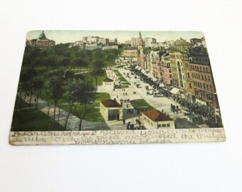 Vintage Antique Postcard 1908 Postmark Made in Germany A.C - Posted  Stamped  Used Bosselman Co Mailed from Ennis West Virginia