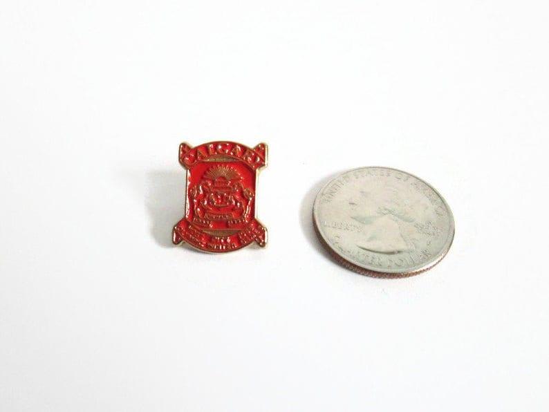 Olympic Winter Games Alberta Canada Host City 1988 Vintage Calgary Pin