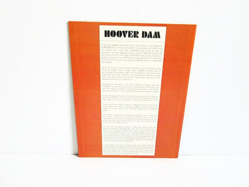 Historic Photographs To Tame A Giant by Malcolm Thompson Hoover Dam Story Nevada Highways and Parks Booklet NV Travel Souvenir Guide Book