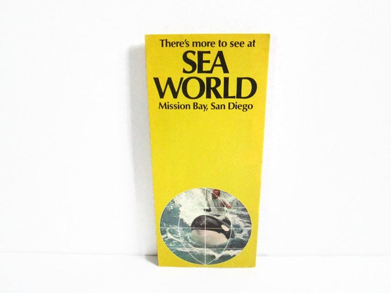 vintage california travel brochure sea world mission bay san etsy