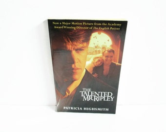 Vintage Paperback Book, The Talented Mr. Ripley by Patricia Highsmith, Movie Tie-In
