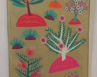 Wild Flowers of WA Australian Tea Towel