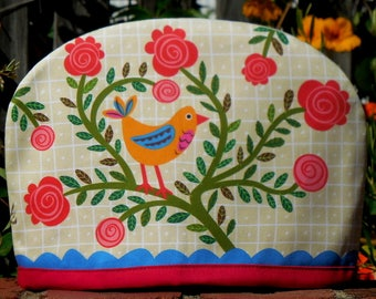 Canary and Rosebush red trim Australian Tea Cosy