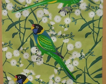 Ringnecks and Fremantle Mallee Australian Tea Towel