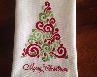 Decorative Christmas Tree Towel