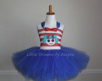 Marina Anchors inspired tutu dress, Lalaloopsy inspired tutu dress, Marina Lalaloopsy costume inspired size nb to 10years