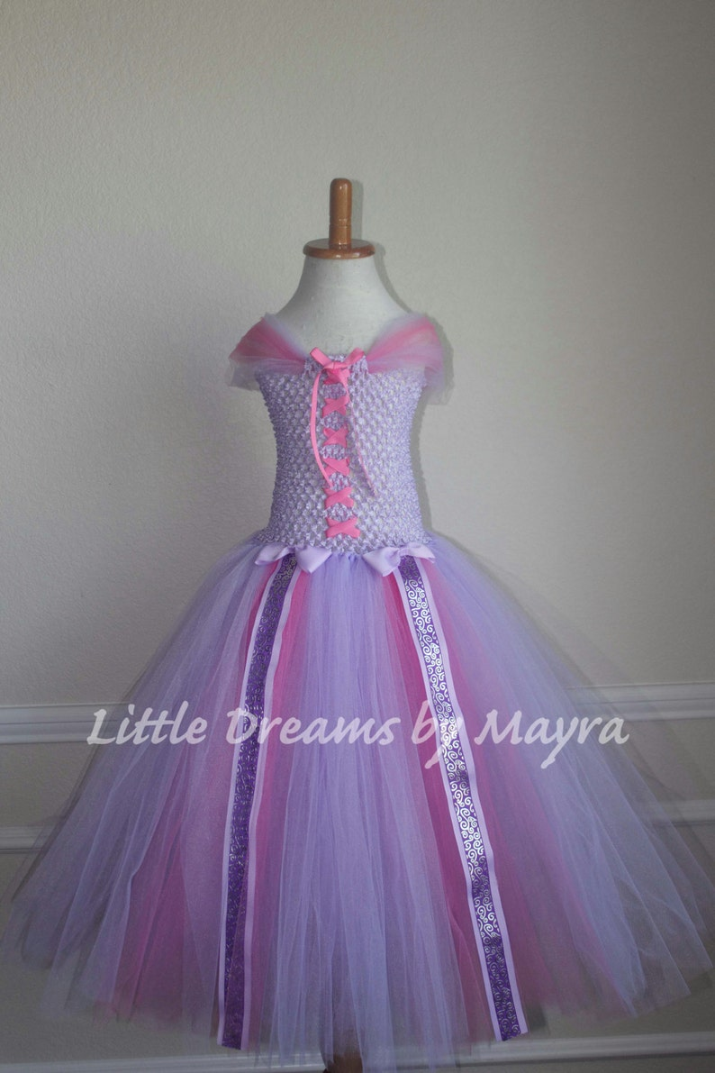 a2419ee4f Rapunzel inspired tutu dress and matching bow Princess dress | Etsy