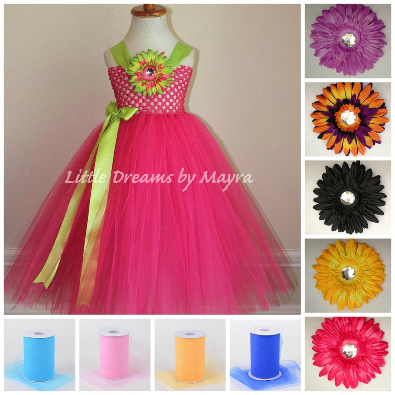 0fcdfe4fc33d Mix and match Flower girl dress 30 different colors birthday