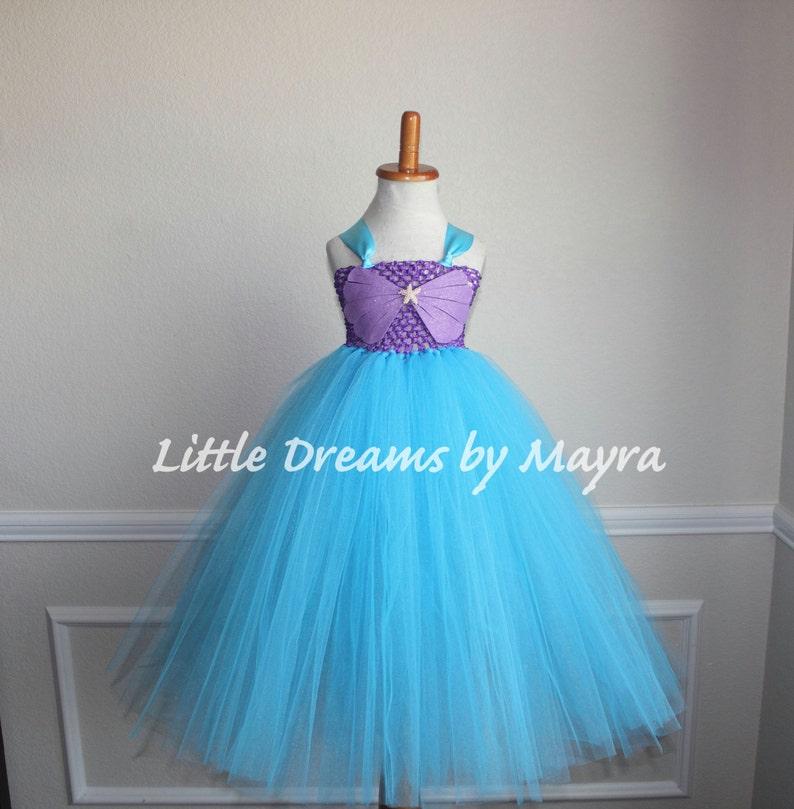 Mermaid Birthday Party Dress Mermaid Princess Dress Mermaid Tutu Dress Size Nb To 9years