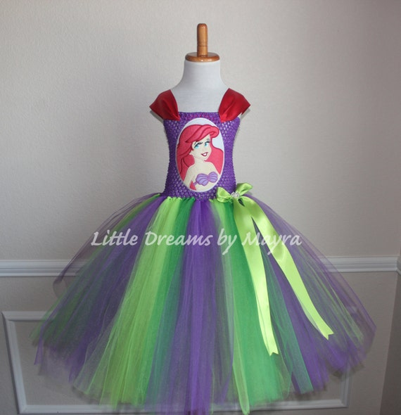 The Little Mermaid Inspired Tutu Dress Size Nb To 14years Princess Ariel Inspired Birthday Party Outfit