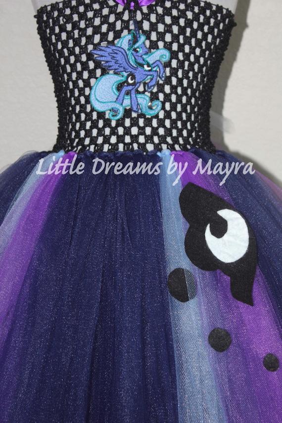 MLP ROBE TUTU fait main robe fantaisie My Little Pony Inspiré Luna