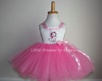 Marie inspired tutu dress, Marie Cat inspired costume, Aristocats Marie Cat outfit inspired size nb to 10years