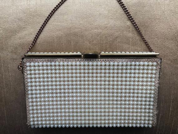 Vintage 40s - 50s Evening Bag is embellished with