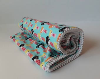 Receiving Blanket, Baby Receiving Blanket, Kimono Flannel Baby Blanket, Crib Blanket, Swaddle blanket