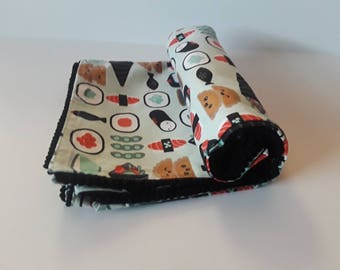 Receiving Blanket, Swaddle Blanket, Baby Receiving Blanket, Sushi Flannel Baby Blanket, Crib Blanket, Swaddling Blanket