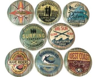Set of 8 Surf Shop Nautical Cabinet Knobs