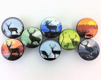 Set of 8 Deer Silhouette Cabinet Drawer Knobs