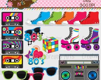 80's Digital Clip Art Instant Download