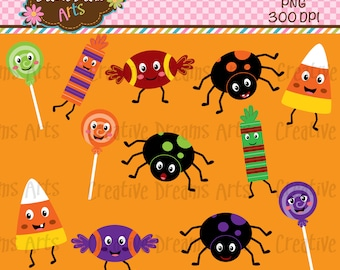 40% Off! Halloween Candy Clipart Instant Download
