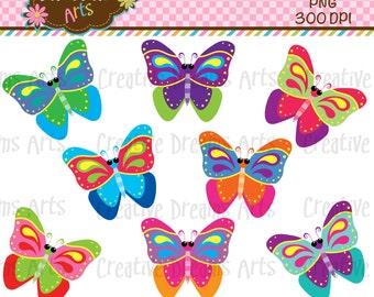 40% Off! Butterflies Clipart Instant Download