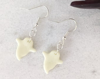 Glow-in-the-Dark Ghost Dangle Earrings | Handmade Polymer Clay Jewelry | Halloween Gifts | Lightweight Unisex Earrings for Kids and Adults
