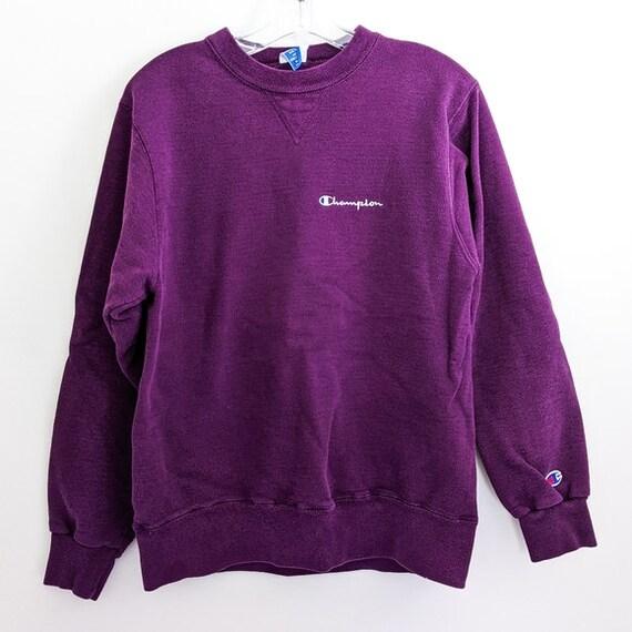 Vintage 80s Purple Champion Pullover Sweatshirt
