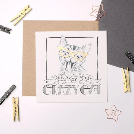 Cat Birthday Card Lover Crazy Lady