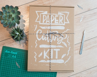 SALE! Papercutting starter kit, an introduction to the art - paper cut templates - craft gift