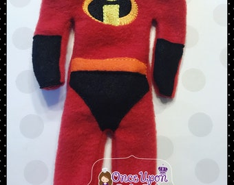 6d31fb26b14 Incredibles Costume for Elf doll.. Elf attire. Doll clothes.12