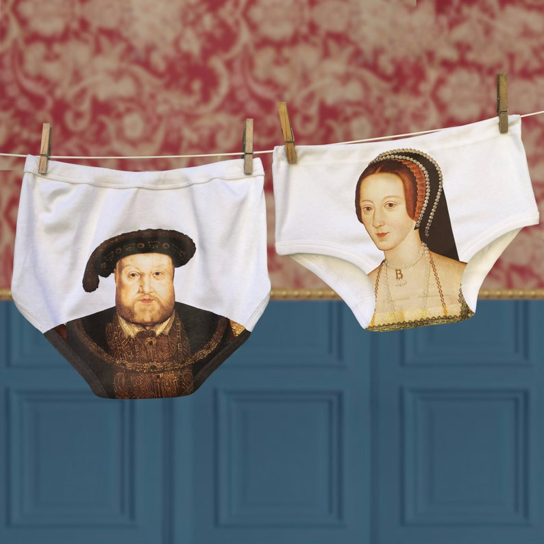 Funny Henry VIII and Anne Boleyn Underwear Set for Couples | Stay at Home Mum