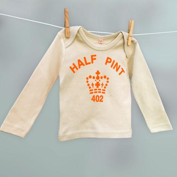Noël assorties T Shirt Orange/crème pinte et demi pinte Twinset Twinset pinte cadeau pour père et fils ou fille en coton biologique 506314