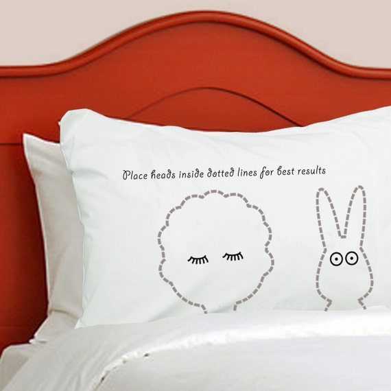 Cute Kids Bunny Pillowcase Personalised