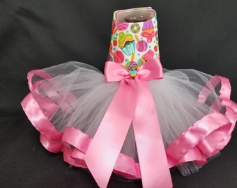 Cupcake Dog Harness Dress. XXSmall Dog Dress to 4X Dog Dresses, Tutu Dog Dress. Dog Clothes, Birthday Dog Dress, Dog Tutu, Large Dog Clothes