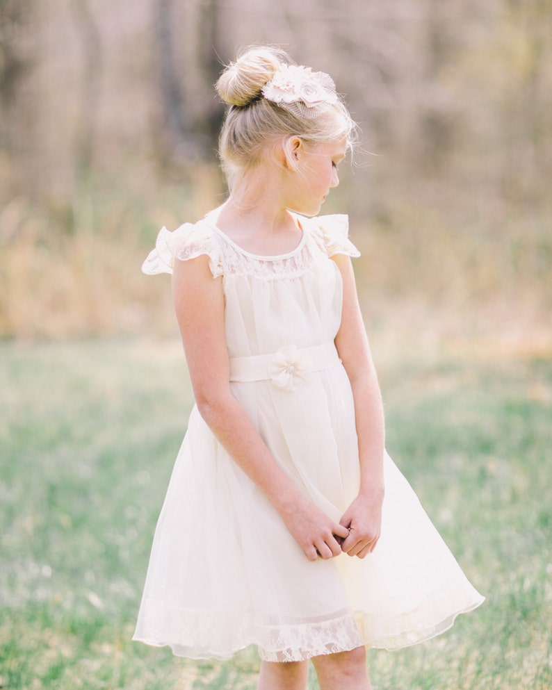 3d1e9453859 Charlotte flower girl dress ivory flower girl dress girls lace