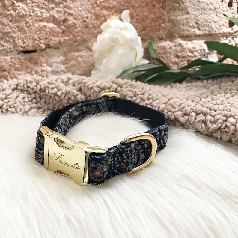 Adjustable dog collar Paisley image 0